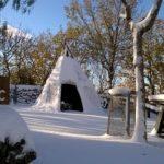 Picknik Area nella neve